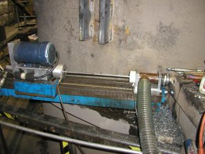 Deep hole drilling 80 inches deep with a 19mm-dia.